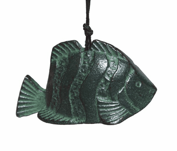 Green Tropical Fish Cast Iron <br> Wind Chime