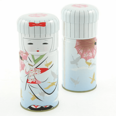 Hakata Doll Tea Canister, 150 grams