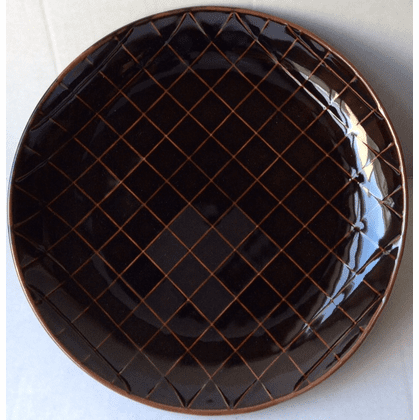 Hakusan Brown Black Plate Design by Masahiro Mori