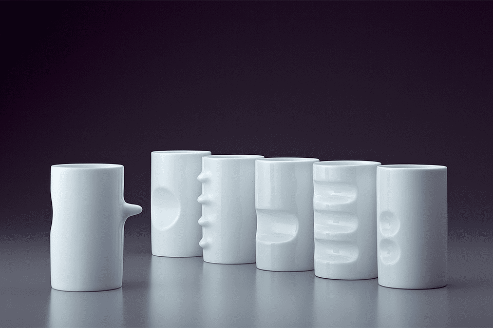 Hakusan Six Fancy Cups designed by Masahiro Mori
