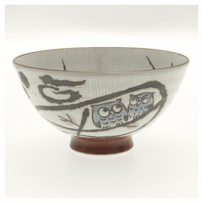 Happy Blue Owl Couple Bowl