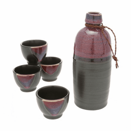 Hulopoe Sunset Sake Container &  <br>4 Cups Set