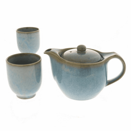 Indigo Fog Ceramic Tea Set
