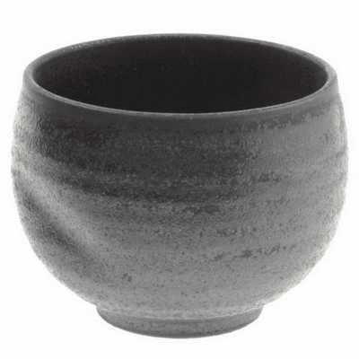 Ippuku Black Crystal Tea Cup, 12 oz.