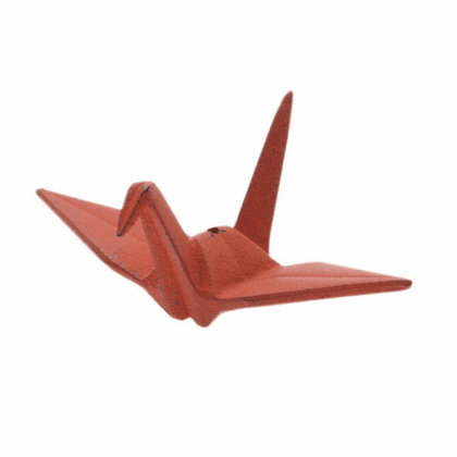 Iwachu Cast Iron Red Peace Crane <br> Incense Stick Holder