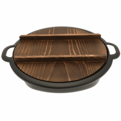 Iwachu Cast Iron Sukiyak & Gyoza Pan with Lid