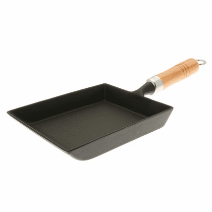 Iwachu Cast Iron Tamagoyaki Omelette Pan with Wooden Handle