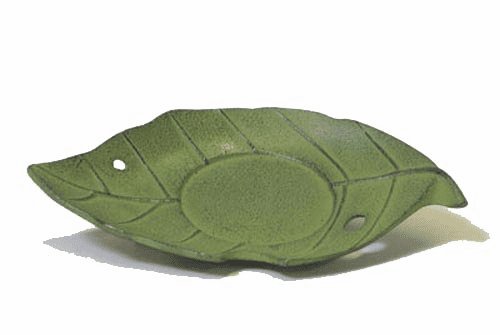 Iwachu Green Cast Iron  Leaf  Coaster