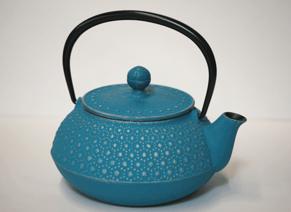 Iwachu Turquoise Honeycomb<br> Cast Iron Teapot 20 oz.