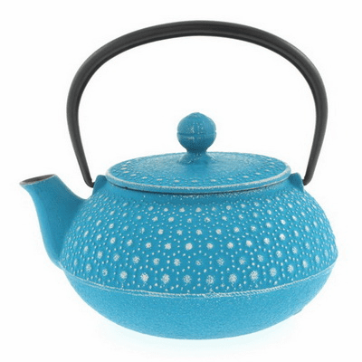 Iwachu Turquoise Honeycomb  Cast Iron Teapot 20 oz.