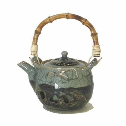 Japanese Small Somayaki  (Double-Walled)  Tea pot, 12 oz.