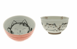 Kitty Ceramic Bowls