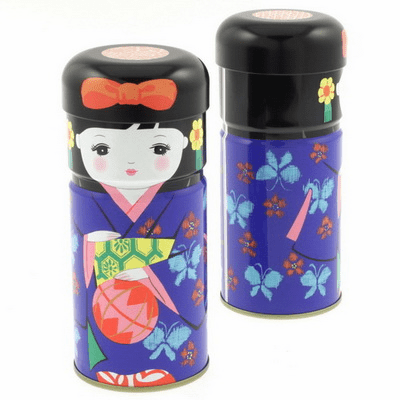 Kokeshi Doll Tea Canister 150 grams