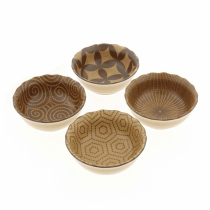 Kyo Modern Sepia Sauce Dishes Set, 3-5/8""