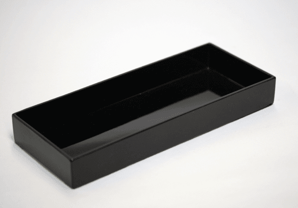 "Laquer Ware Plastic Serving Tray <br> 9-1/4"" x 3-7/8"""