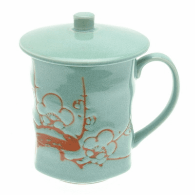 Laurel Green Plum Mug, 9 oz.