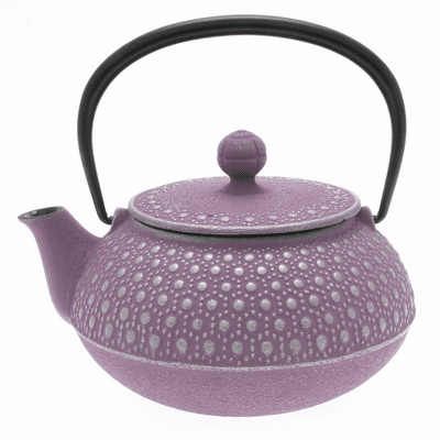 Lavender & Silver Honeycomb Cast <br>Iron Teapot, 20 oz.