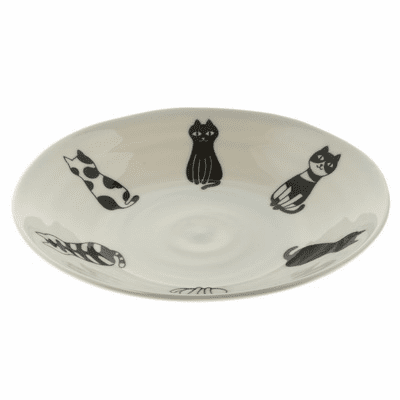 "Le Chat Poseur Ceramic Plates 6-3/8"" <br>or 8-3/4"""