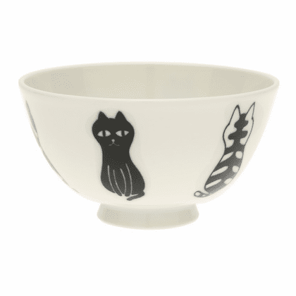 Le Chat Poseur Ceramic Rice Bowl