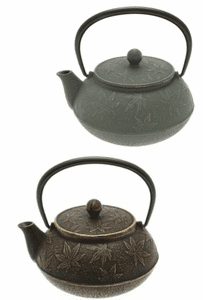 Maple Leaf Cast Iron Teapot Series