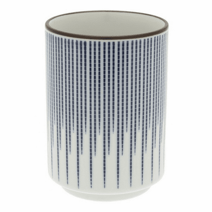 Medallion Blue Spokes Sushi Tea Cup, 8 oz.