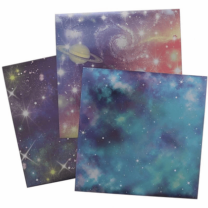 "Metallic Universe Space Origami Paper 6"" sq."