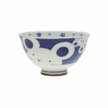 Mother Mouse & Pup Ceramic<br> Rice Bowl