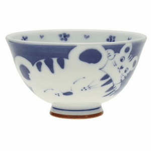 Mother Tigress & Cub Ceramic<br> Rice Bowl