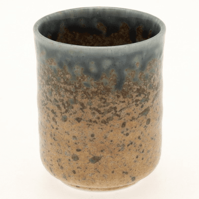 Blue & Sand Crackle Tea Cup, 7 oz.