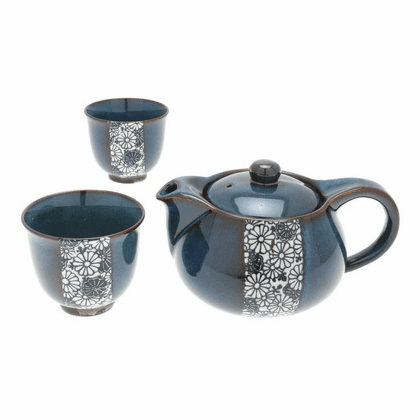 Namako Blue Mums Ceramic Tea Set