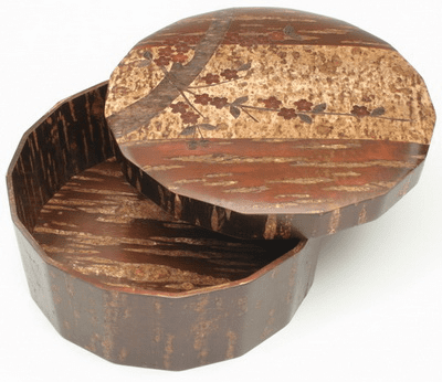 Natural Cherry Bark Wooden <br>Tea Set Box