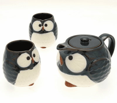 Night Sky Owl Tea Set