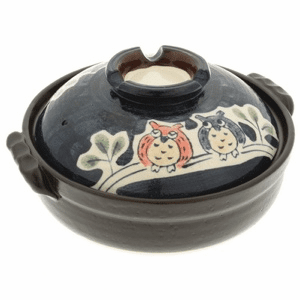 "Owl Family Donabe Pots 8-1/2"" or<br> 9-3/4"""