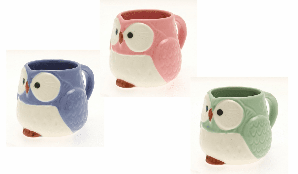 Owl Tea/Coffee Mugs, 11 oz.