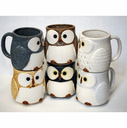 Owl Tea/Coffee Mugs, 12 oz.