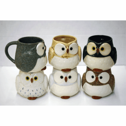 Owl Tea/Coffee Mugs, 9 oz.