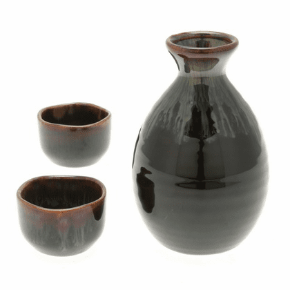 Pacific Kelp Forest Sake Container & 2 Cups Set