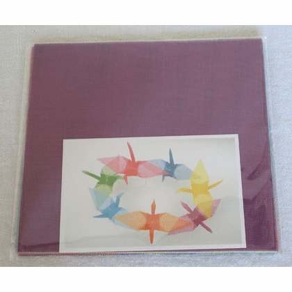"Pack of 6-7/8"" Sq. Mesh Origami Paper 10 Sheets"