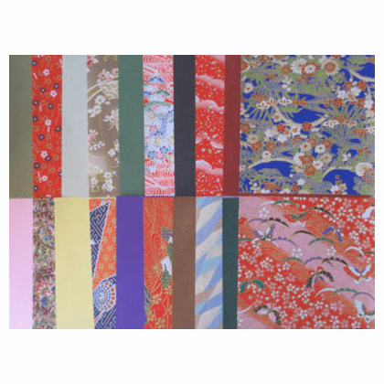 "Pack of 6"" Sq. Yuzen Chiyogami <br> Origami Paper 20 Sheets"