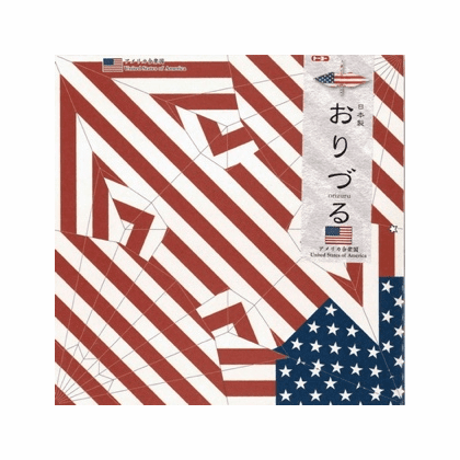 Package of 50 Origami Papers for American Flag Crane Orizuru