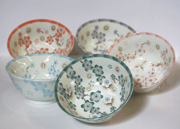Pink Flower Story Bowl