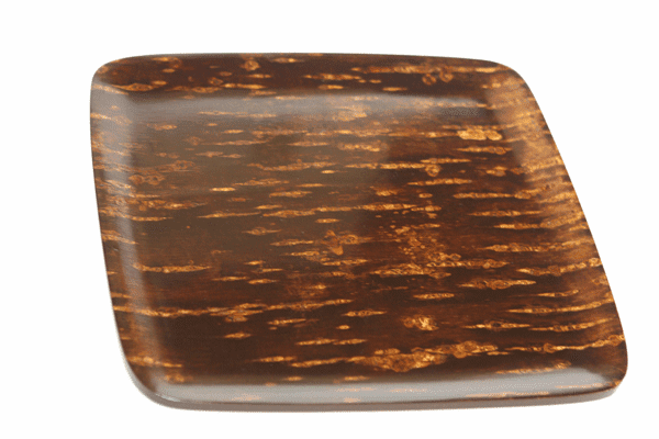 Polished Natural Cherry Bark Tray <br> Serving, 12-5/8""