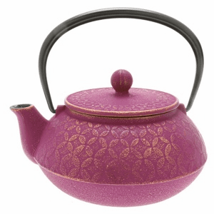 Purple and Gold Tessellation Cast Iron Teapot, 20 oz.