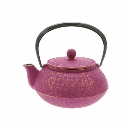Purple and Gold Tessellation <br>Cast Iron Teapot, 20 oz.