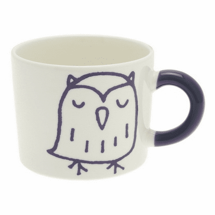 Purple/Violet Owl Mug, 12 oz.