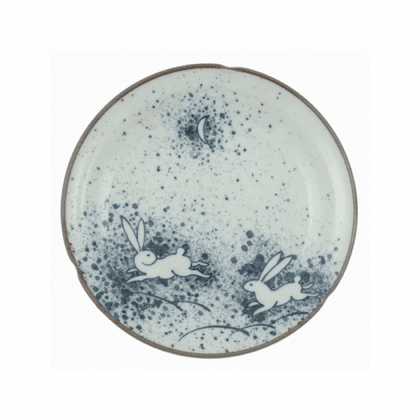 Rabbit Moon Plate, 8-3/4""