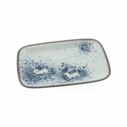 Rabbit Moon Rectangular Plate
