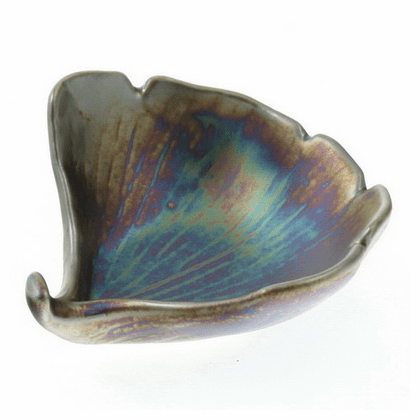 Rainbow Luster Ginkgo<br> Sauce Bowl
