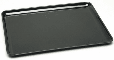 "Rectangular Black Lacquer Ware  <br>Tray 16"" x 12-1/4"""