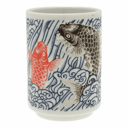 Red and Black Carps Sushi Cup  9 oz.